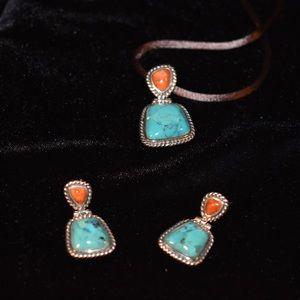 Studio Barse Turquoise Coral 925 Jewelry Set